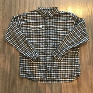 Patagonia Button Front Shirt  Blue Checked